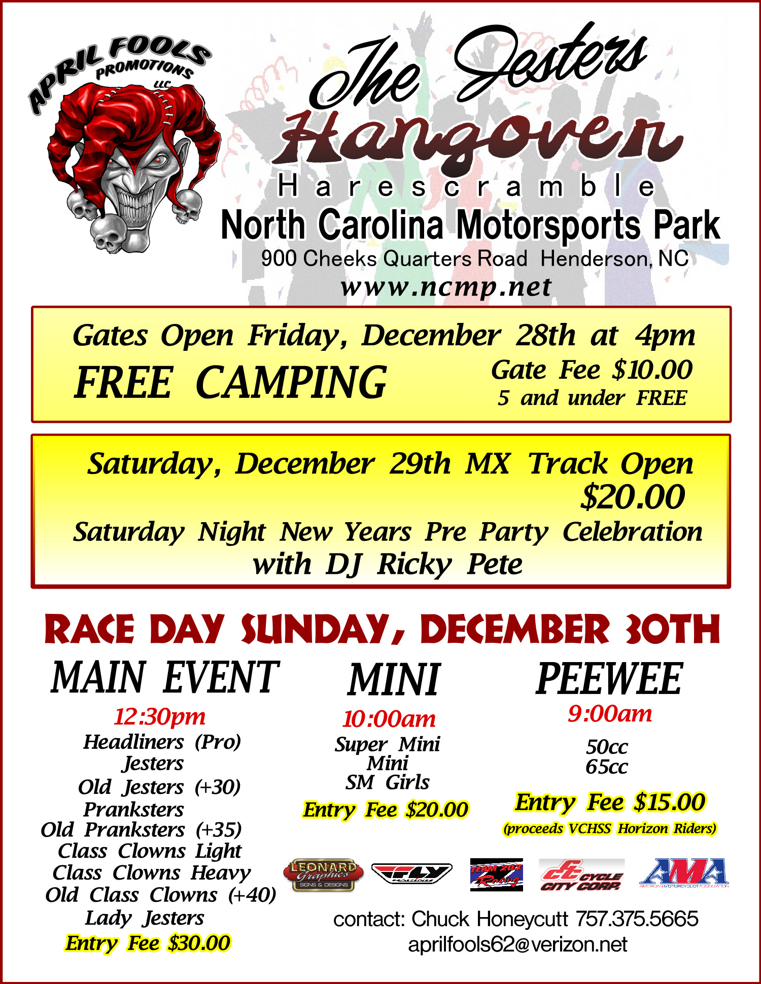 The Jesters Hangover Harescramble Dec 30th 2012 North
